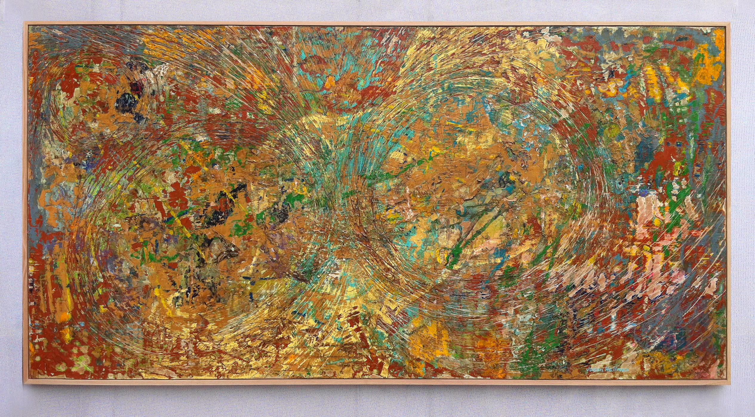 Vibration (50 x 98″ framed) mixed media