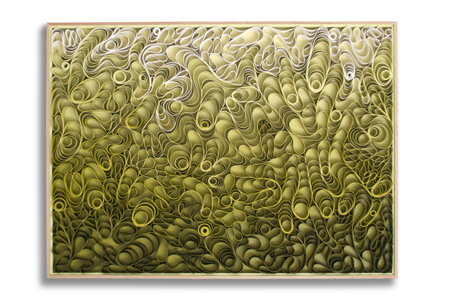 modern, Original artwork, sculpture, abstract art, canvas on edge, fine art, green, seattle, jason hallman, stephen stum