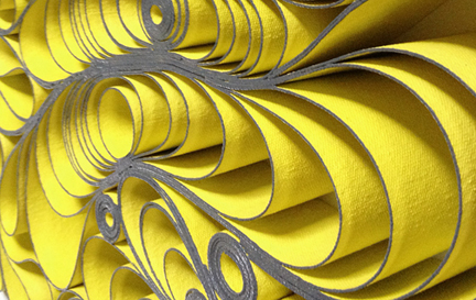 modern, Original artwork, sculpture, abstract art, canvas on edge, fine art, blue, ocean, water, coastal art, seattle, jason hallman, stephen stum, green, yellow, gradient interior design