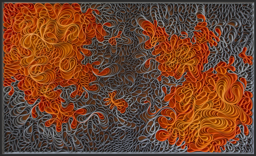 The Power of Two 37×60″ sculpted canvas and acrylic. Artists: STALLMAN – Jason Hallman, Stephen Stum Inquire about pricing and availability here