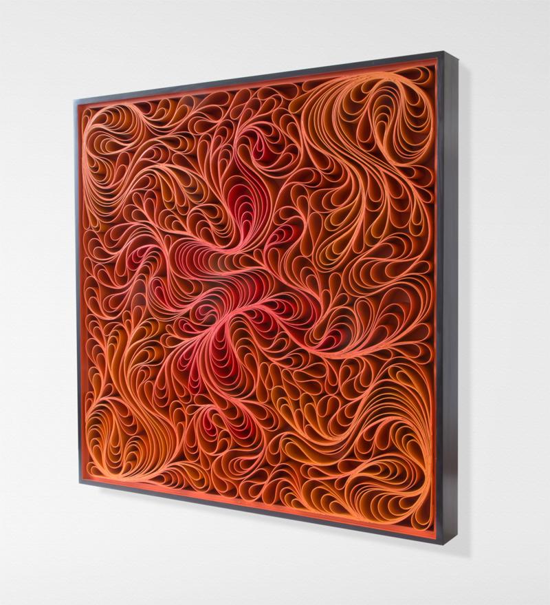 stallman, Original artwork, sculpture, seattle, jason hallman, stephen stum, orange, mid century, fire, warm color, solar flare
