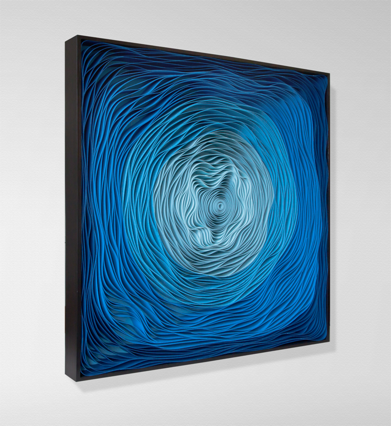 Stallman, modern, paper art, Original artwork, sculpture, abstract art, canvas on edge, fine art, blue, ocean, water, coastal art, seattle, jason hallman, stephen stum, blue,ocean, turquoise, Caribbean, stallman, ocean art, jason hallman, stephen stum, blue art