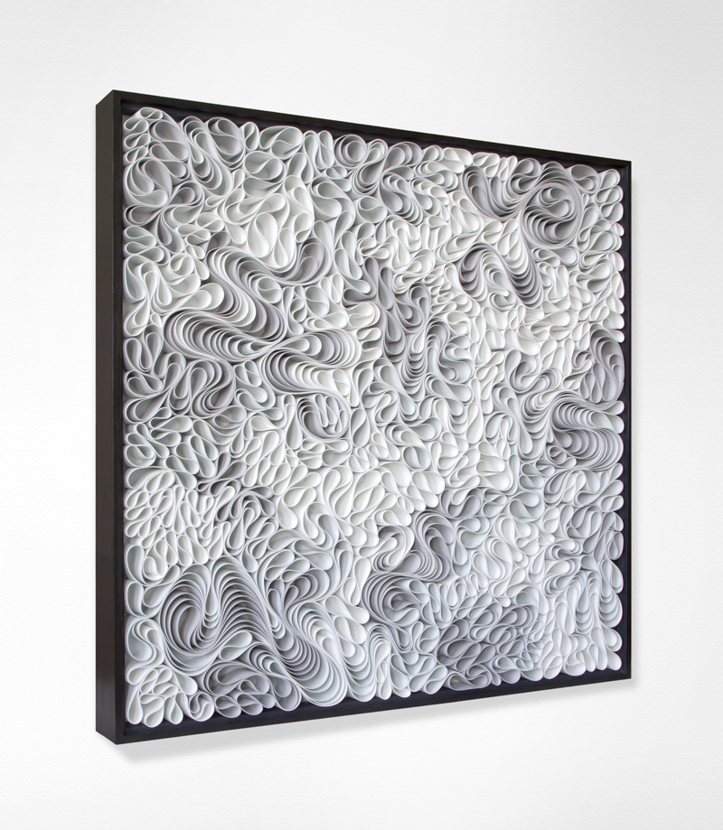 Stallman, modern, Original artwork, sculpture, abstract art, canvas on edge, fine art, black and white, monochrome, holographic, seattle, jason hallman, stephen stum, paper sculpture, organic, stallman, bronze, white art, jason hallman, stephen stum