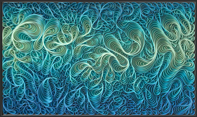Stallman, modern, paper art, Original artwork, sculpture, abstract art, canvas on edge, fine art, blue, ocean, water, coastal art, seattle, jason hallman, stephen stum, blue,ocean, turquoise, Caribbean, stallman, ocean art, jason hallman, stephen stum