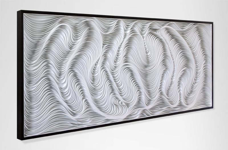Stallman, modern, Original artwork, sculpture, abstract art, canvas on edge, fine art, black and white, monochrome, holographic, seattle, jason hallman, stephen stum, paper sculpture, organic, stallman, bronze, white art, jason hallman, stephen stum