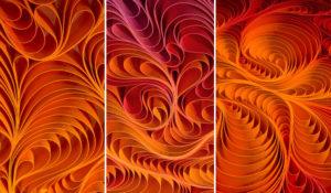 Wildfire triptych