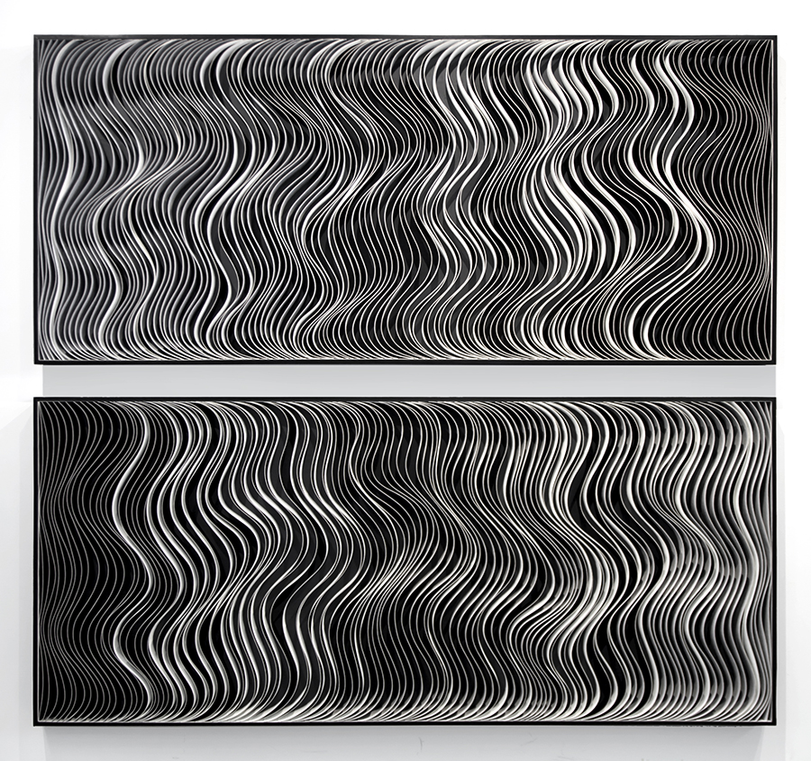 Stallman, modern, paper art, Original artwork, sculpture, abstract art, canvas on edge, fine art, blue, ocean, water, coastal art, seattle, jason hallman, stephen stum, black and white, monochrome, stallman, ocean art, jason hallman, stephen stum