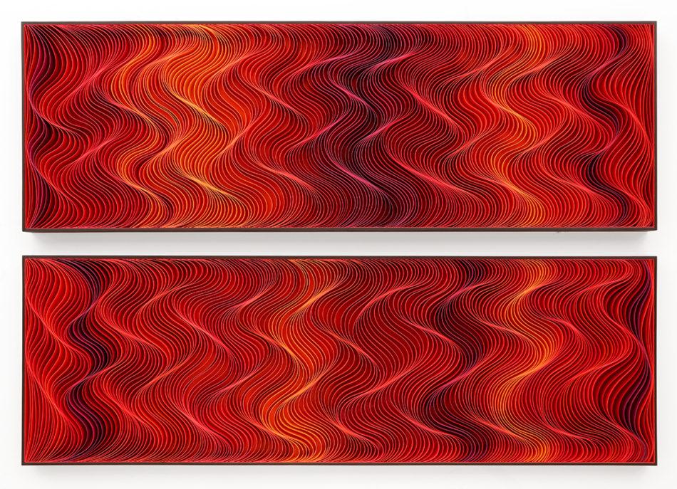 Stallman, modern, paper art, Original artwork, sculpture, abstract art, canvas on edge, fine art, red, ocean, water, purpleart, seattle, jason hallman, stephen stum, heart, love, stallman, jason hallman, stephen stum, sunset