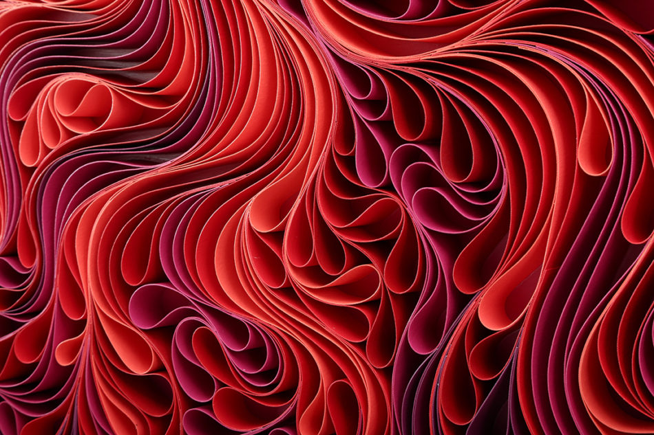 Stallman, modern, paper art, Original artwork, sculpture, abstract art, canvas on edge, fine art, red, ocean, water, purpleart, seattle, jason hallman, stephen stum, heart, love, stallman, jason hallman, stephen stum, sunset
