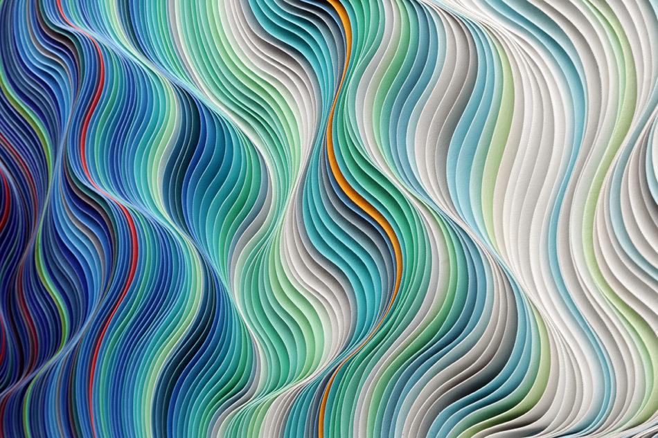 Stallman, modern, paper art, Original artwork, sculpture, abstract art, canvas on edge, fine art, red, ocean, water, purpleart, seattle, jason hallman, stephen stum, stallman,